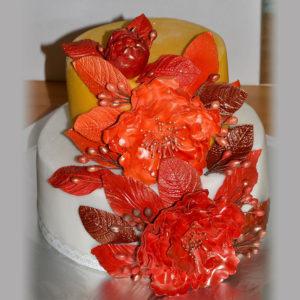 Торт с пионами